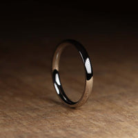 Slim Polished Stainless Steel Wedding Ring - The Bingham