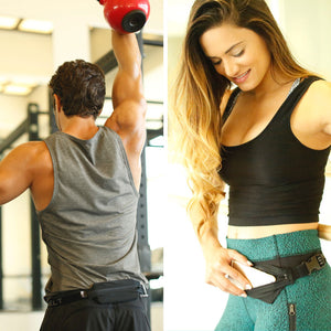 Spibelt Flex great for the gym with headphones for men and women