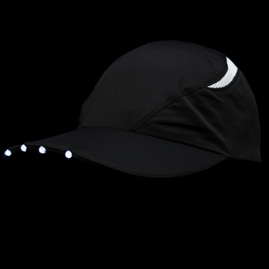 SPIbeams Running Cap black lights on