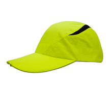 Load image into Gallery viewer, SPIbeams Running Cap Lime with front and rear lights