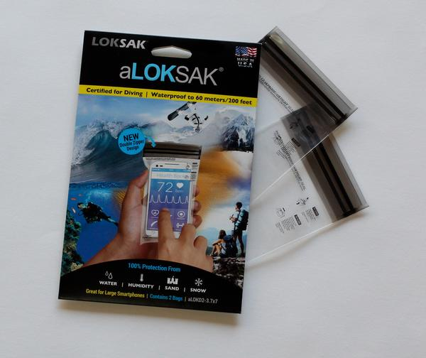Loksak Waterproof Bags Twin Pack 3.7 x 7