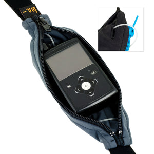 Spibelt Diabetic belt for insulin pump anthracite open