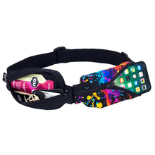 Load image into Gallery viewer, Spibelt Glide running belt black and rave