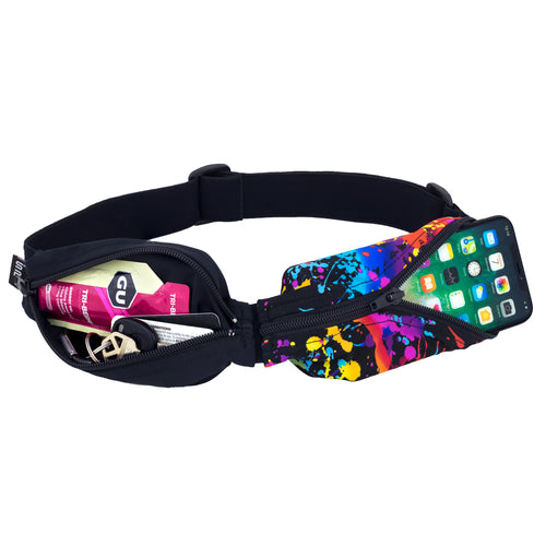 Spibelt Glide running belt black and rave