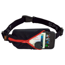 Load image into Gallery viewer, Spibelt Energy Running Belt with 6 Energy Gel loops Black with red zip