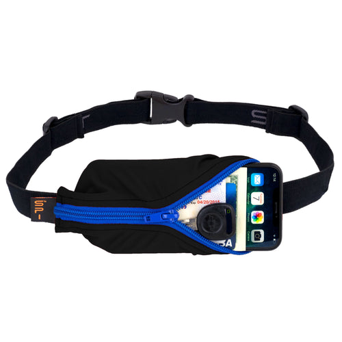 Spibelt Large Pocket Black with Blue Zip