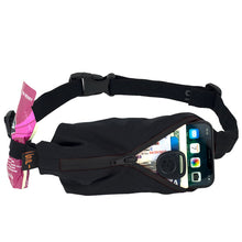 Load image into Gallery viewer, Spibelt Performance Running Belt Black Zip