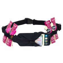 Load image into Gallery viewer, Spibelt Energy Running Belt with 6 Energy Gel loops Black