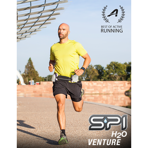 Spibelt Venture Running Belt with Bottles man running