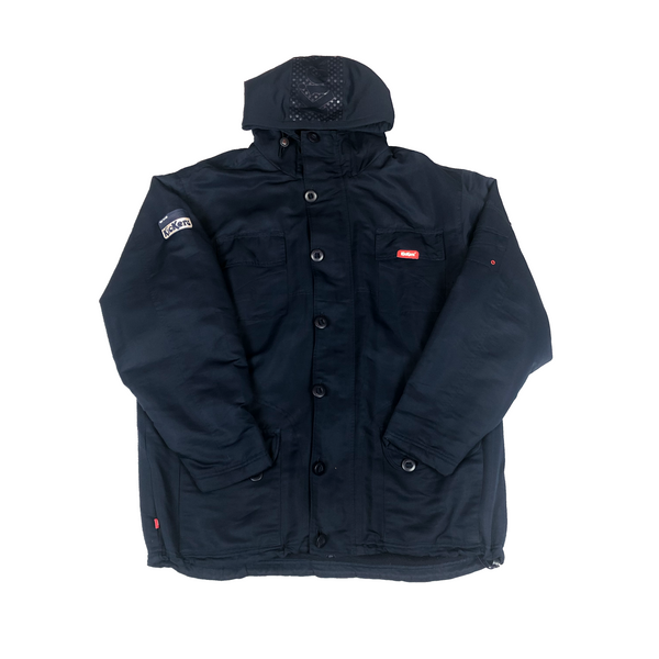 Kickers duffle parka with archive detailing in navy