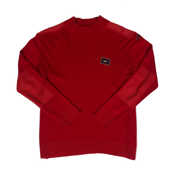 Paul and shark turtle neck sweater red