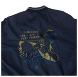 Iceberg a history 'diamonds are a girls best friend' bomber jacket