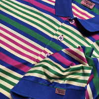 Missoni Sport Multicolour Striped Polo Shirt circa 1980s