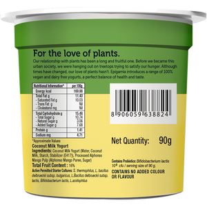 Coconut Milk Yogurt, 90 gm - Pack of 6 - Mango and Blueberry