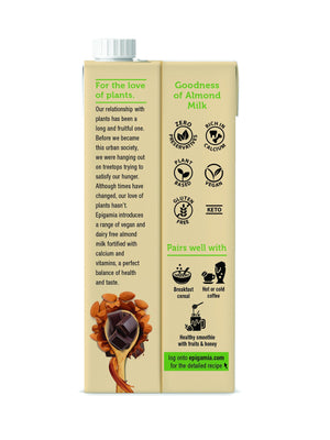 Almond Milk, Chocolate - Pack of 2 x 1 Ltr