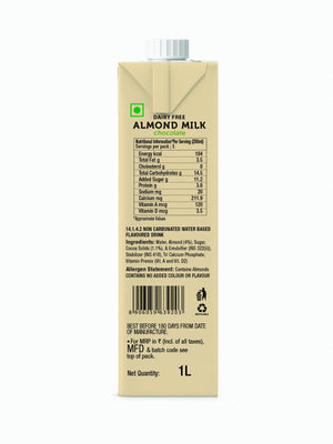 Almond Milk, Chocolate & Unsweetened - Pack of 2 x 1 Ltr