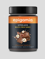 Epigamia Spreads, Made from Ghee, Chocolate Hazelnut - 250 gm
