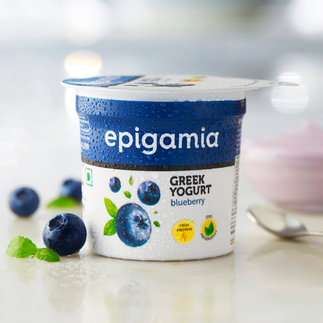 Greek Yogurt, Blueberry (₹5 OFF) - 90gm