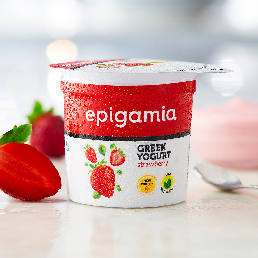 Greek Yogurt, Strawberry (₹5 OFF) - 90gm