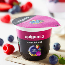 Load image into Gallery viewer, Epigamia Greek Yogurt - No Added Sugar, Mixed Berries - 120 gm