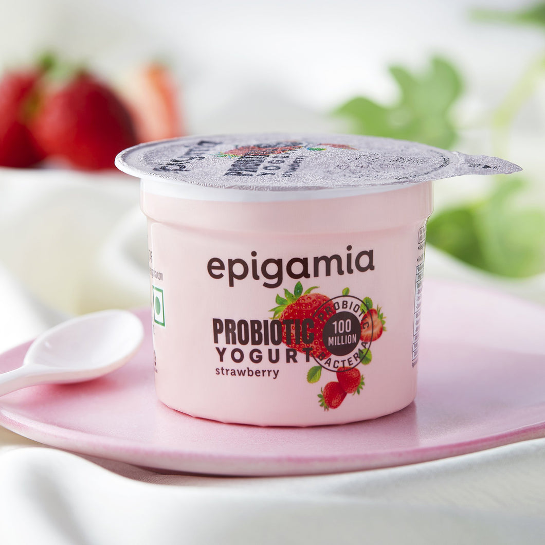 strawberry probiotic yogurt - 75 gm