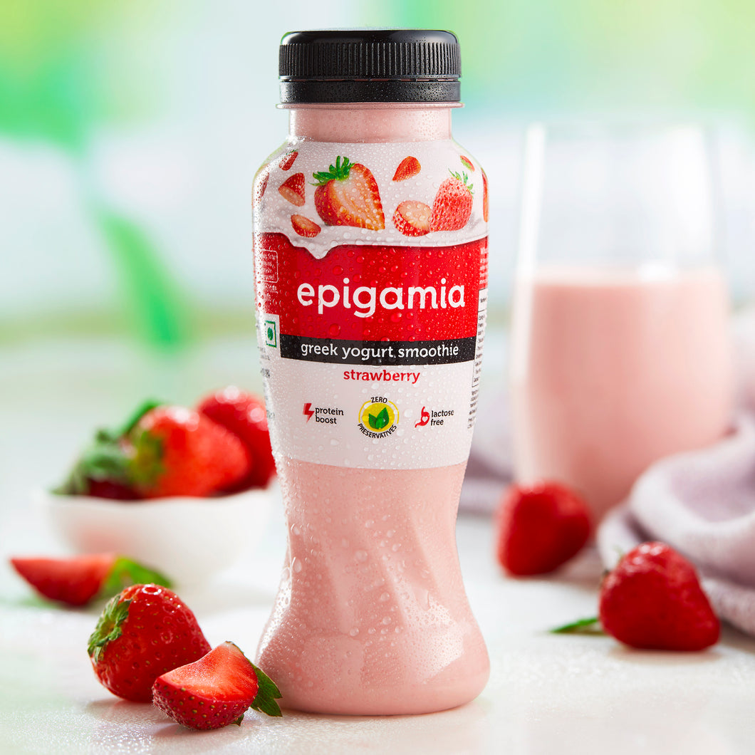 Greek Yogurt Smoothie, Strawberry (₹21 OFF) - 200 ml