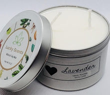 Load image into Gallery viewer, Lavender Natural Soy  Tin Candle