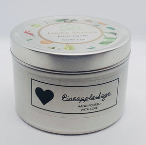 Pineapple Sage Natural Soy Tin Candle