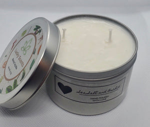 Sea Salt and Orchid Natural Soy Tin Candle