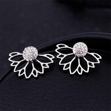 Load image into Gallery viewer, 2019 New Crystal Flower Drop Earrings for Women Fashion Jewelry Gold Silver Rhinestones Earrings Gift for Party Best Friend
