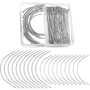 70PCS/lot Wig Making Pins Needles Set Wig C Curve Needle T Needle Wig Fixing Hair Weave For Making Hair DIY Tools Accessories