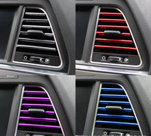 Load image into Gallery viewer, 10 Pcs Car Accessories DIY Car Interior Air Conditioner Outlet Vent Grille Chrome Decoration Strip Silvery car styling