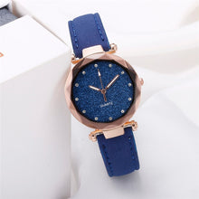 Load image into Gallery viewer, Dropshipping Women Romantic Starry Sky Wrist Watch Leather Rhinestone Designer Ladies Clock Simple Dress Gfit Montre Femme D30