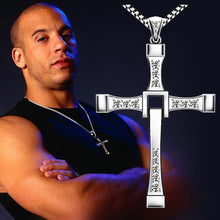 Load image into Gallery viewer, Zkceenier 2019 Necklace The Fast and The Furious Celebrity Vin Diesel Item Crystal Jesus Men Cross Pendant Necklace Gift Jewelry