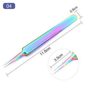 1/5/10Pcs/Set 3g Nail Glue Curved Straight Glitters Stainless Steel Chameleon Tweezer Acrylic Tips AdhesiveTool Fast Drying Glue