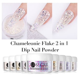 UR SUGAR 5/30ML Chameleon Dips Powders No Lamp Cure Holographic Glitter Gradient French Natural Dry Nail Art Manicure