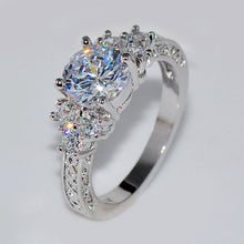 Load image into Gallery viewer, Fashion Beautiful Silver Crystal Zircon Ring Size 6/7/8/9/10 Hot Sale High Quality for Bride Women