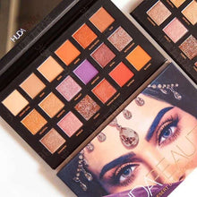 Load image into Gallery viewer, Hudas Beauty Glazed Eyeshadow Pallete 18 Color Nude Matte Pink Professional Eye Make-up Pallet Hudamoji Shadows Pigment Palette