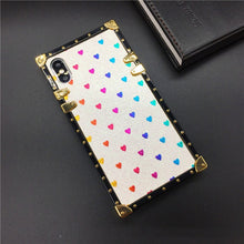 Load image into Gallery viewer, Luxury Brand Bling Love Heart Bee Cover Square Case for Samsung Galaxy S9 Plus S10 J4 J6 S8 Note 9 10 8 A10 A30 A70 A20S M20 M30
