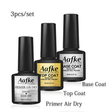 Load image into Gallery viewer, 4pcs/set Nail Top Coat And Base Coat For Nails Semi Permanant Fast Dry Primer Soak Off Burst Remover UV Gel Nail Lacquer ZJJ3083
