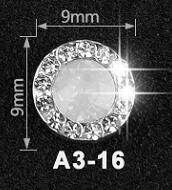 5pcs Shiny Nail Rhinestones Rotatable Crystal Transfer Diamond Back Flat For Nail Art Gemstone Accessories Jewelry Charms JA3