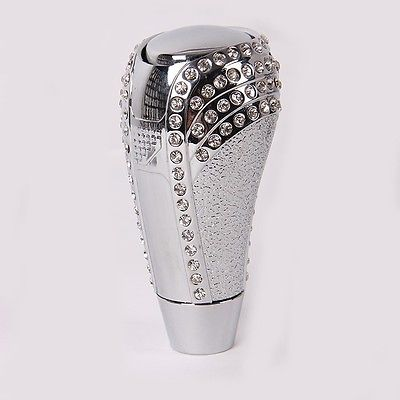 2018 hot new Universal Crystal Rhinestone Manual Auto Car Gear Stick Shifter Knob Shift Lever Free Shipping