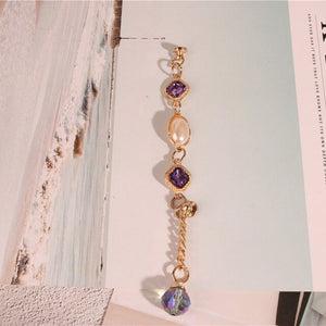 Alloy gem Rhinestone ring handmade material tassel hanger strings pendant for cellphone bag key chains diy craft accessories
