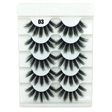 Load image into Gallery viewer, 5Pairs New 3D Faux Mink Hair Soft False Eyelashes Fluffy Wispy Thick Lashes Handmade Soft Eye Makeup Extension Tools Wimpers