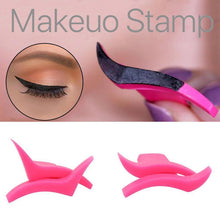 Load image into Gallery viewer, ELECOOL 2Pcs Eyeliner Template Stamp Mold Wings Easy To Wear Liquid Eye Liner Black Wing Shape Cosmetic Eyeliner Stamp Tool