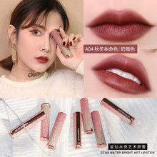 Load image into Gallery viewer, Starry Sky Lipstick Waterproof Velvet Lip Stick 10 colors Sexy Nude Matte Makeup Cosmetics