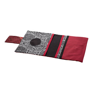 African Red and Black Diaper Clutch