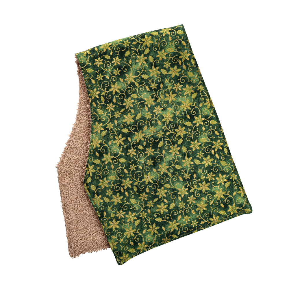 Christmas Floral Burp Cloths