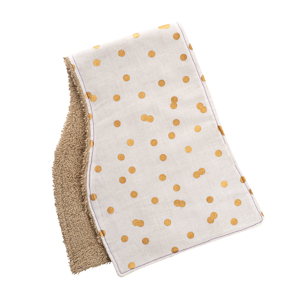 Golden Dots Burp Cloths