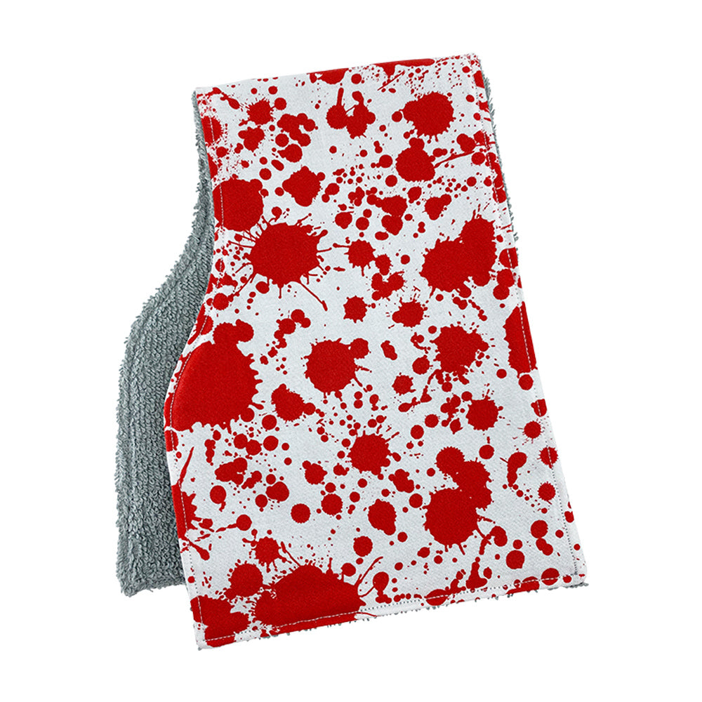Blood Splatter Burp Cloths
